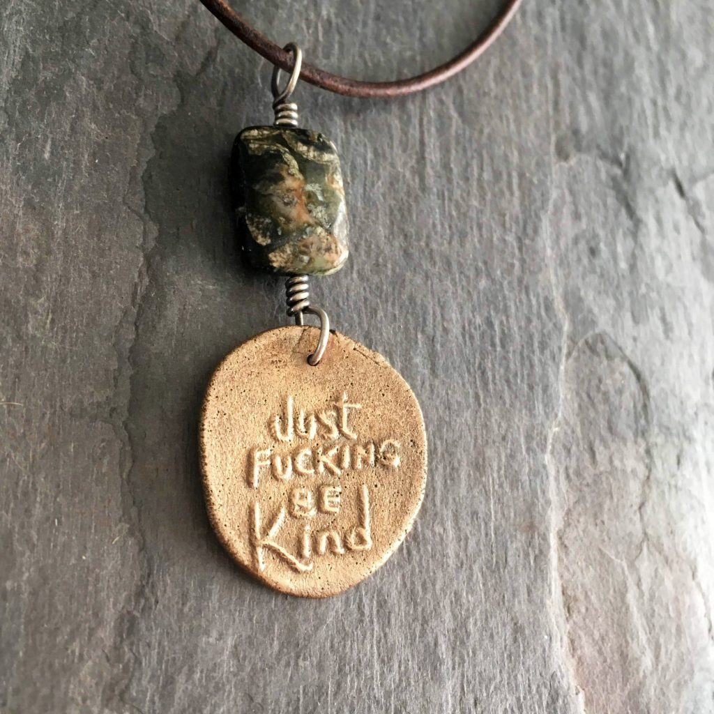 just fucking be kind necklace
