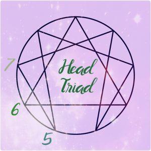 head triad enneagram symbol