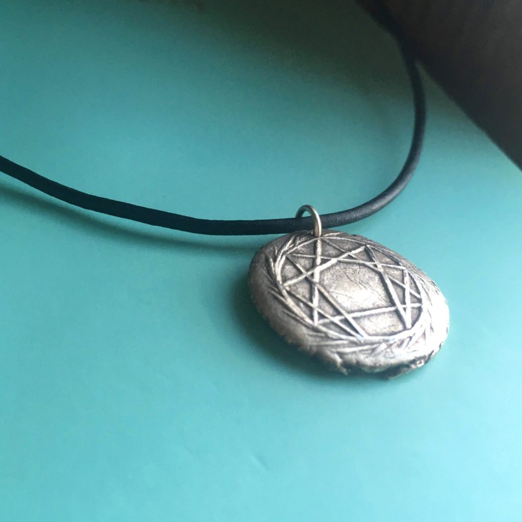 enneagram jewelry, silver pendant necklace
